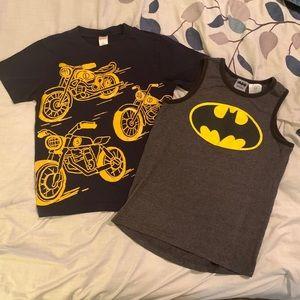 Gymboree and Batman Boys shirts Sz 7-8 bundle
